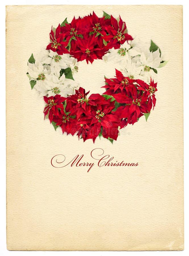 Weinlese-Weihnachtskarte vektor abbildung