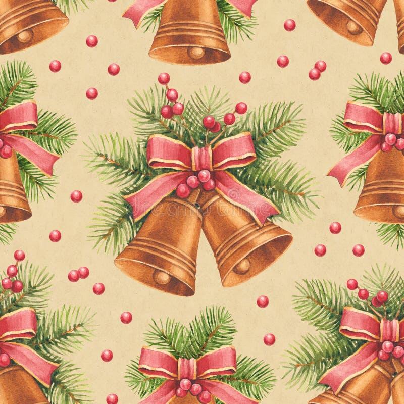 Weinlese-Weihnachtsmuster lizenzfreie abbildung