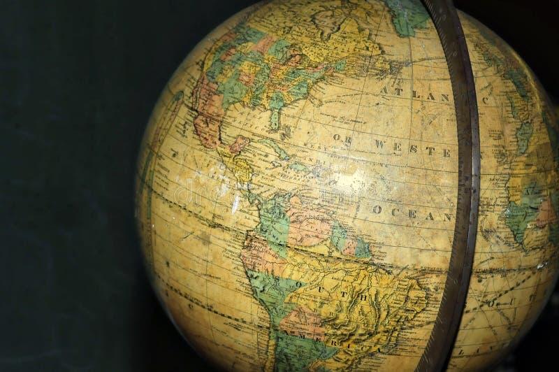 Weinlese-Weltkugel lizenzfreies stockbild