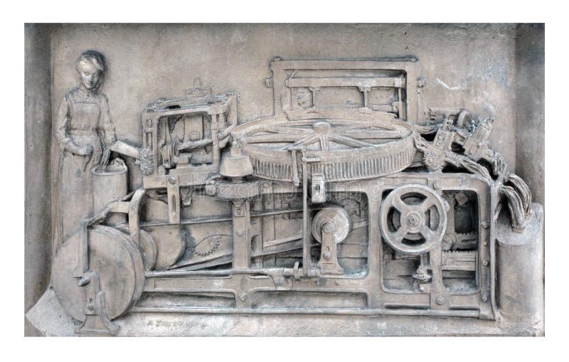 Weinlese-Wollspülapparat stockfoto
