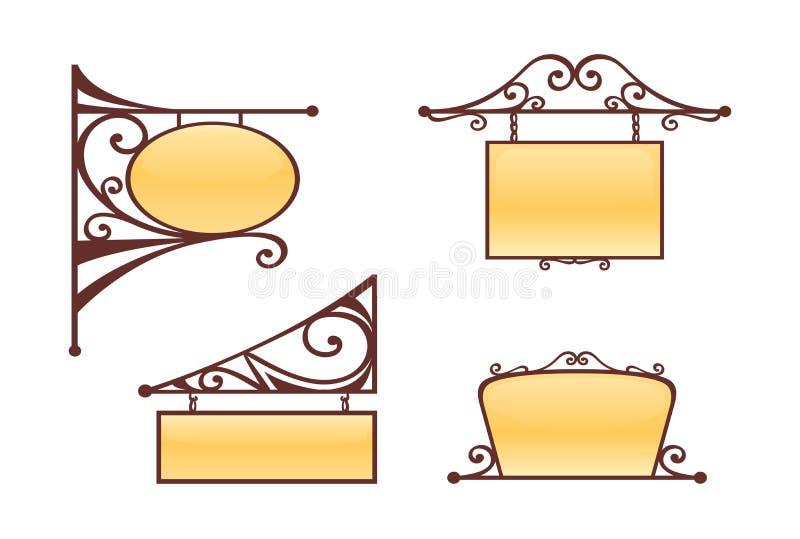 Weinlese-Zeichen stock abbildung