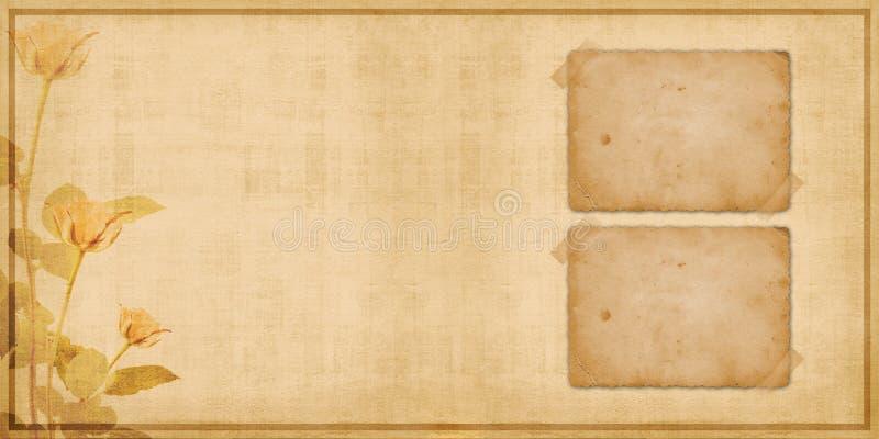 Weinleseabdeckung für Portefeuille mit Feldern stock abbildung