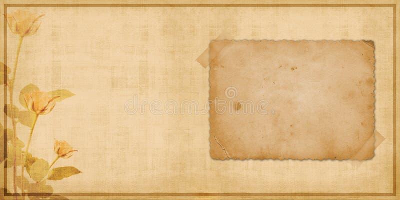 Weinleseabdeckung für Portefeuille mit Feldern vektor abbildung