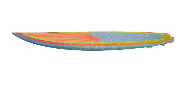 Weinleseachtziger jahre Surfbrett lokalisiert auf Weiß lizenzfreie stockfotos