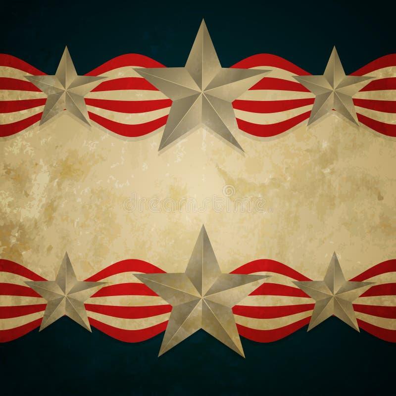 Weinleseamerikanische flagge stock abbildung
