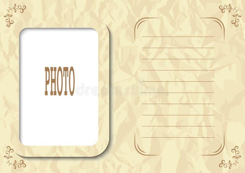 Weinleseart-Fotorahmen für Familie Album, Konto oder Screensaver vektor abbildung