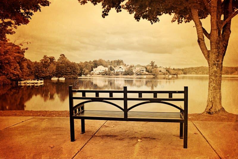 Weinleseartfoto des Parks stockbilder