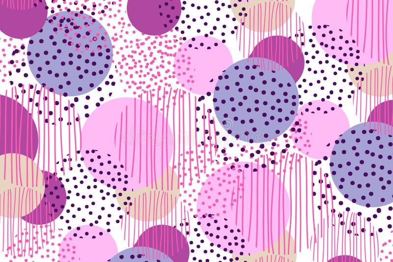Weinleseartkreis-Geometriehintergrund Illustrationsoberflächenentwurf für Druck und Netz stockfotos