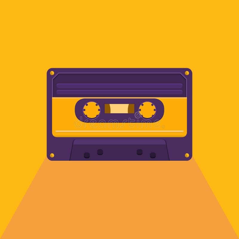 Weinleseaudiokassette lizenzfreie abbildung