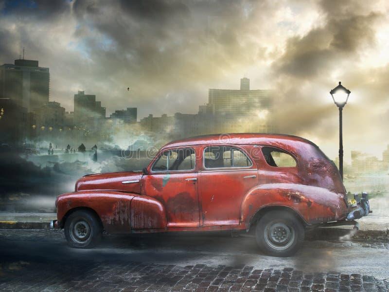 Weinleseauto, Havana Fantasy lizenzfreie stockfotos