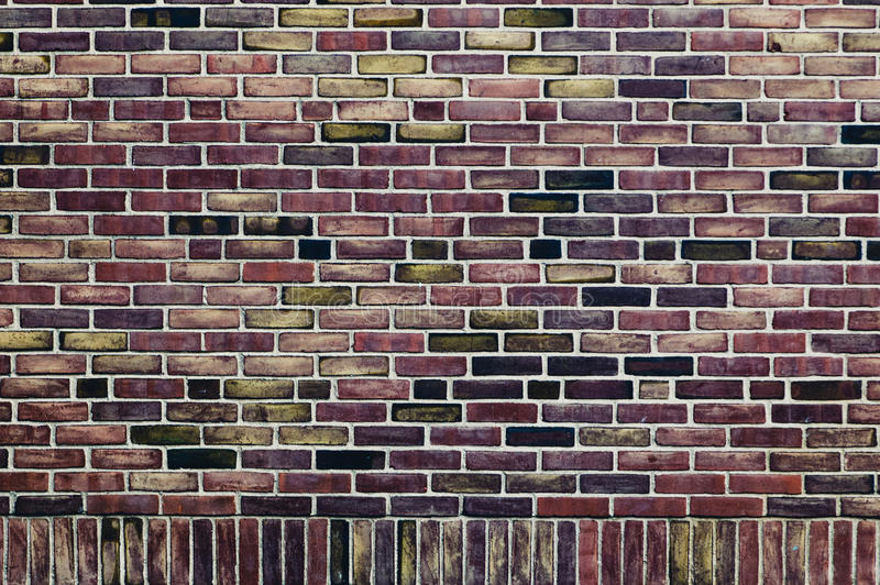 Weinlesebacksteinmauer lizenzfreie stockfotografie