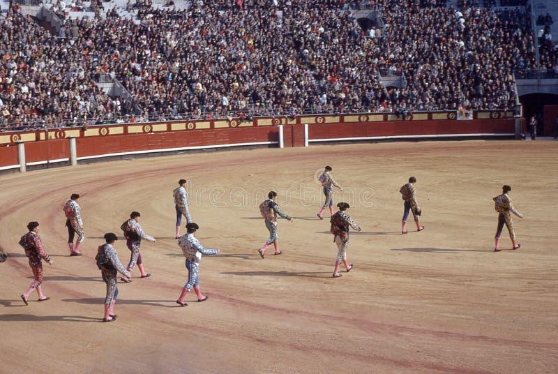 Weinlesebild von Stier-Fighting in Madrid, Spanien lizenzfreies stockbild