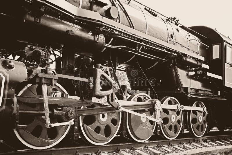 Weinlesedampflokomotive lizenzfreie stockbilder