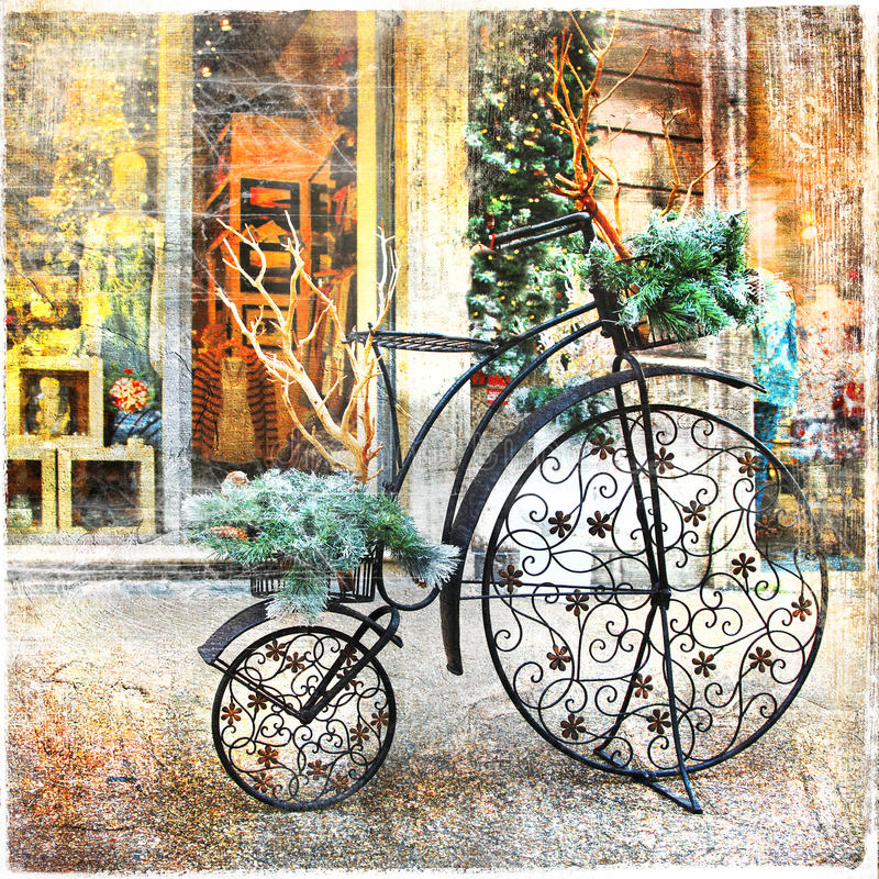 Weinlesefahrrad stockfotos