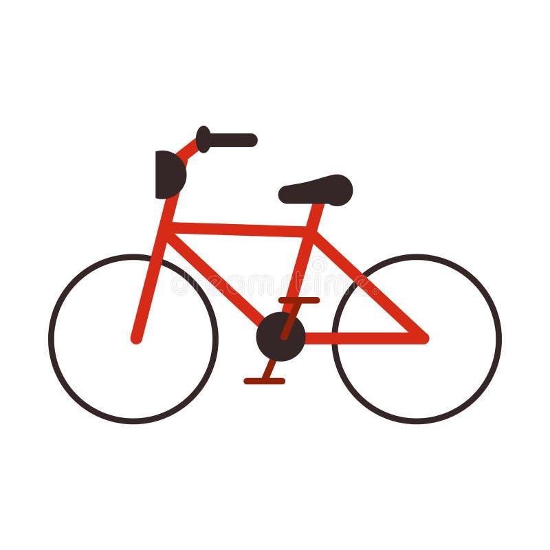 Weinlesefahrradsymbol lizenzfreie abbildung