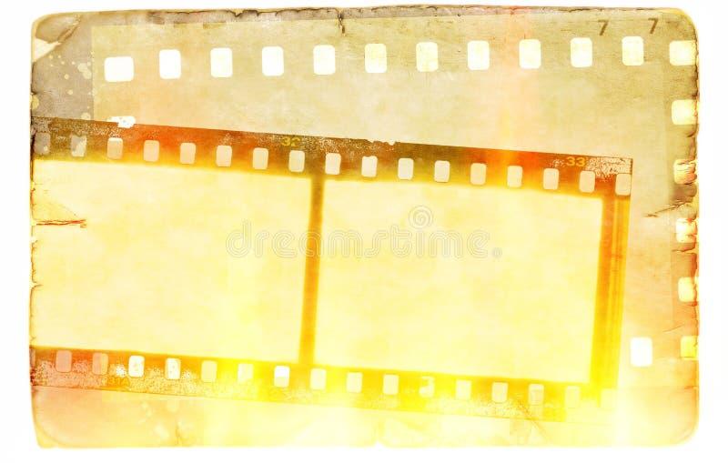 Weinlesefilm-Streifenrahmen auf altem Papierhintergrund stock abbildung