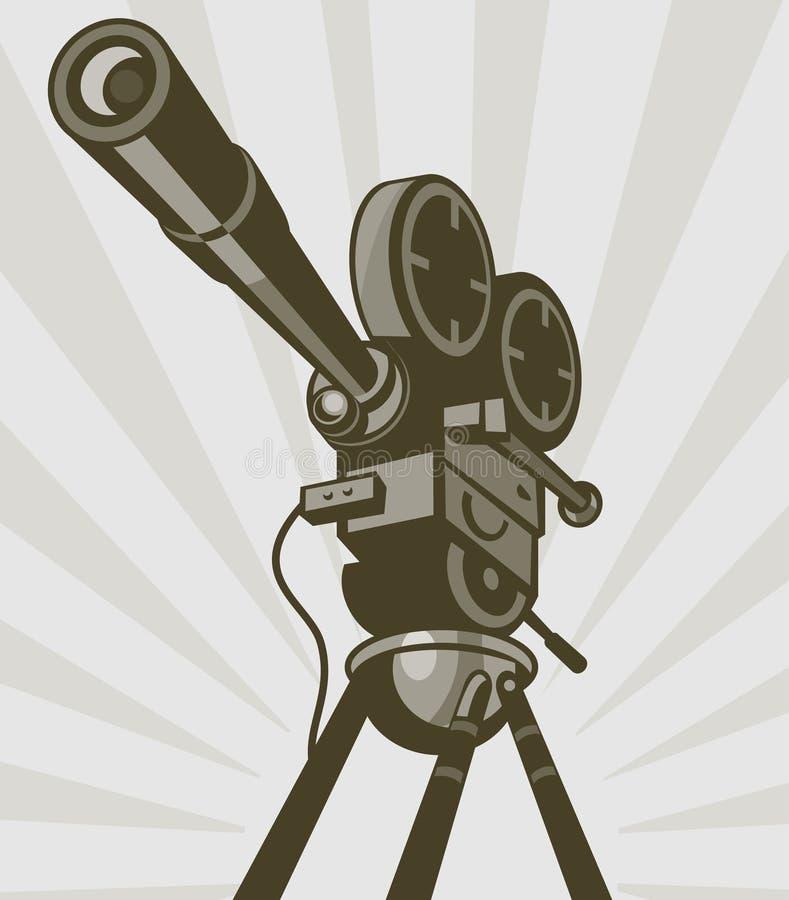 Weinlesefilmfernsehfilmkamera vektor abbildung