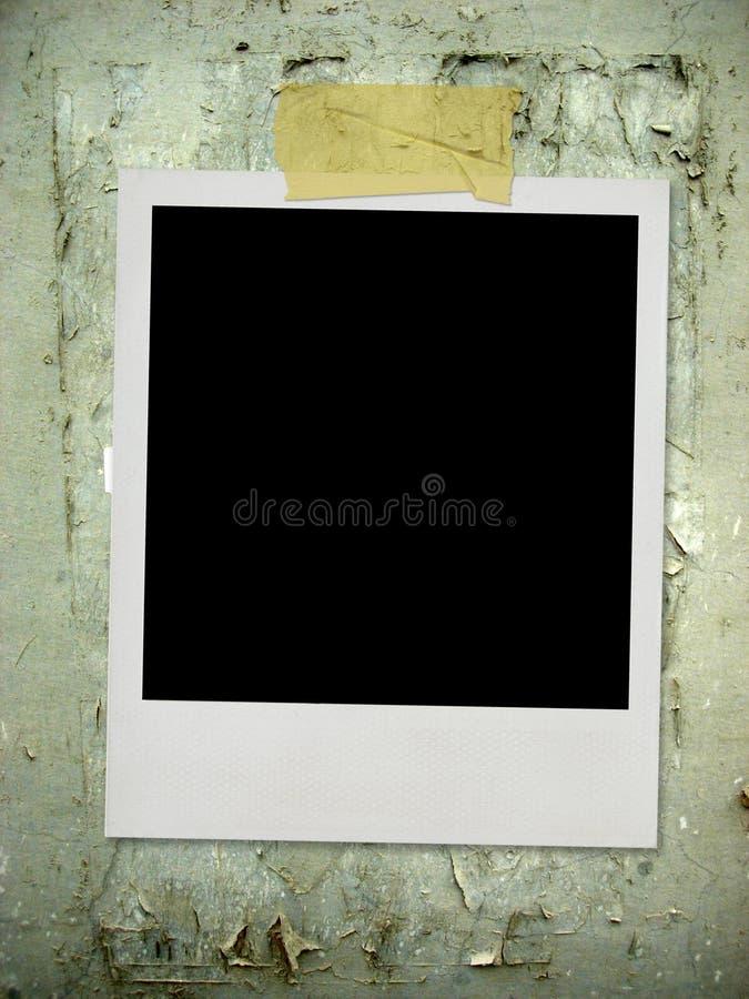 Weinlesefoto auf Wand lizenzfreies stockbild