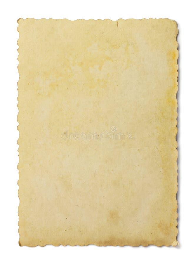 Weinlesefoto auf Weiß stockfoto
