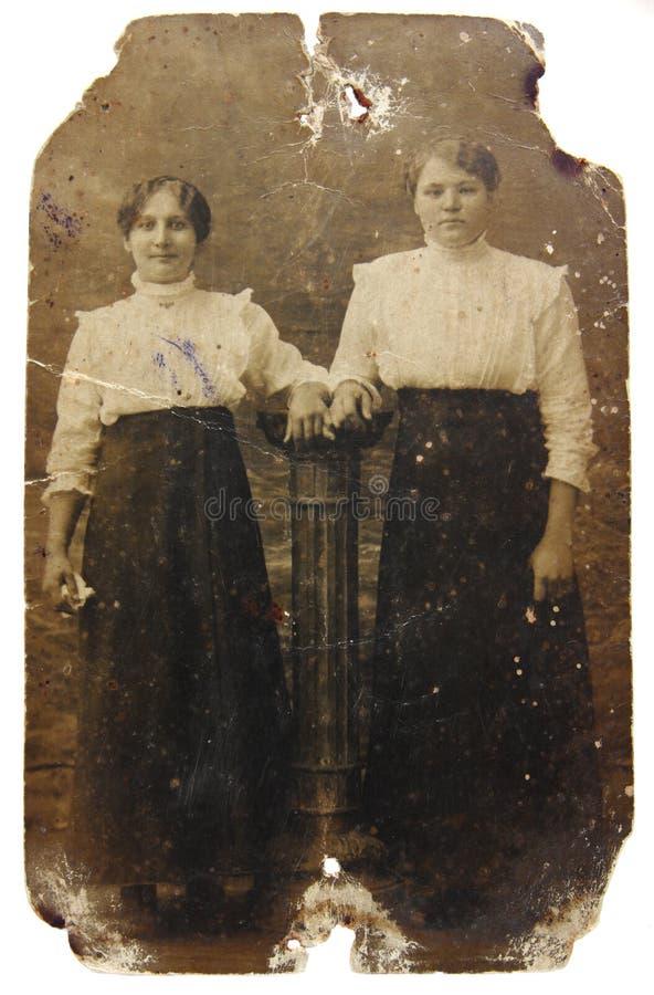 Weinlesefoto der Frauen stockfoto