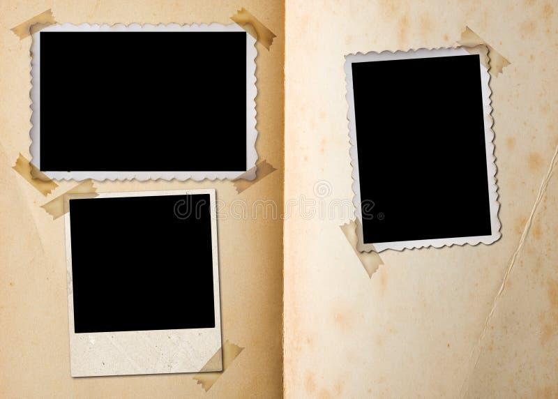 Weinlesefotoalbum. lizenzfreie stockfotografie