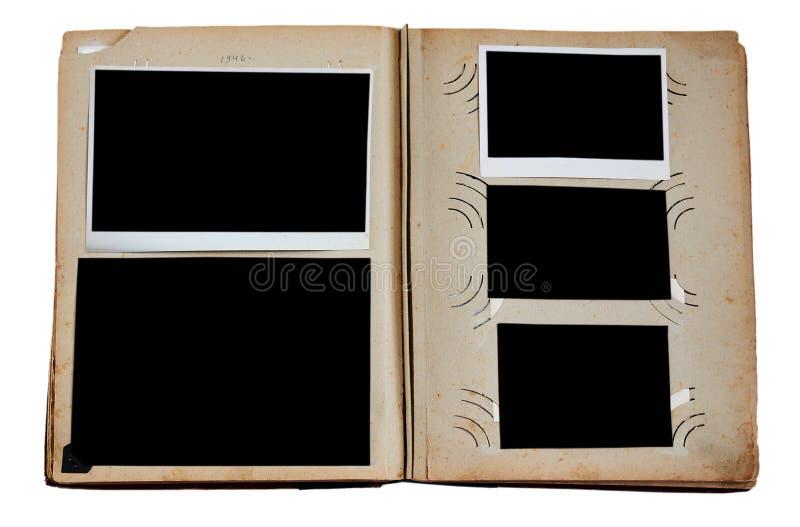 Weinlesefotoalbum lizenzfreie stockbilder