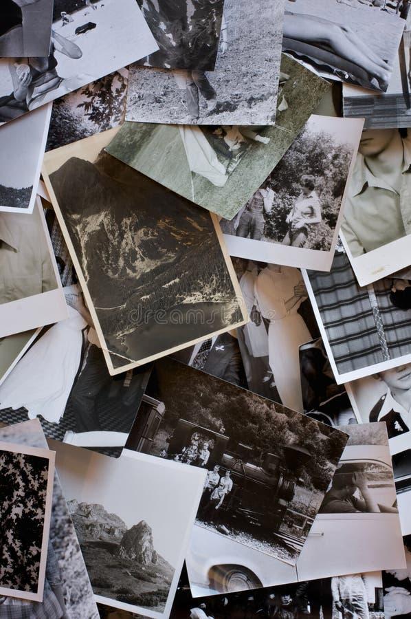 Weinlesefotofeld stockbild