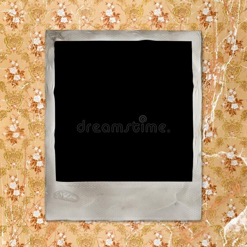 Weinlesefotokarte auf grunge Hintergrund lizenzfreie stockbilder