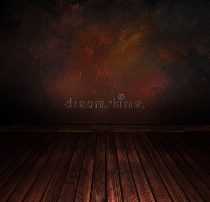 Weinlesefußboden mit Wand. Abstrakter Hintergrund der Kunst stockfoto
