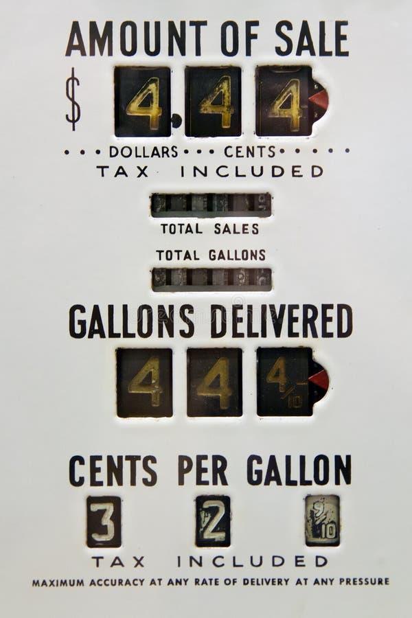 Weinlesegaspumpe lizenzfreies stockbild