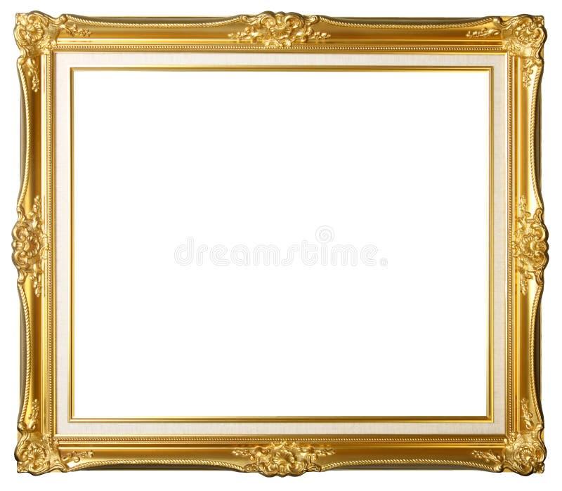 Weinlesegoldbilderrahmen stockbild