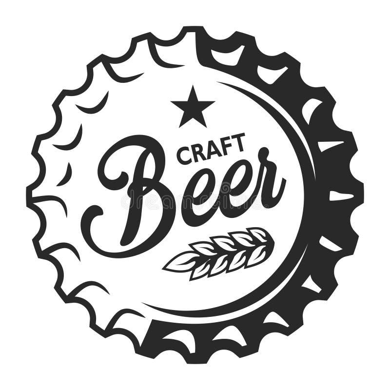 Weinlesehandwerks-Bierlogo vektor abbildung