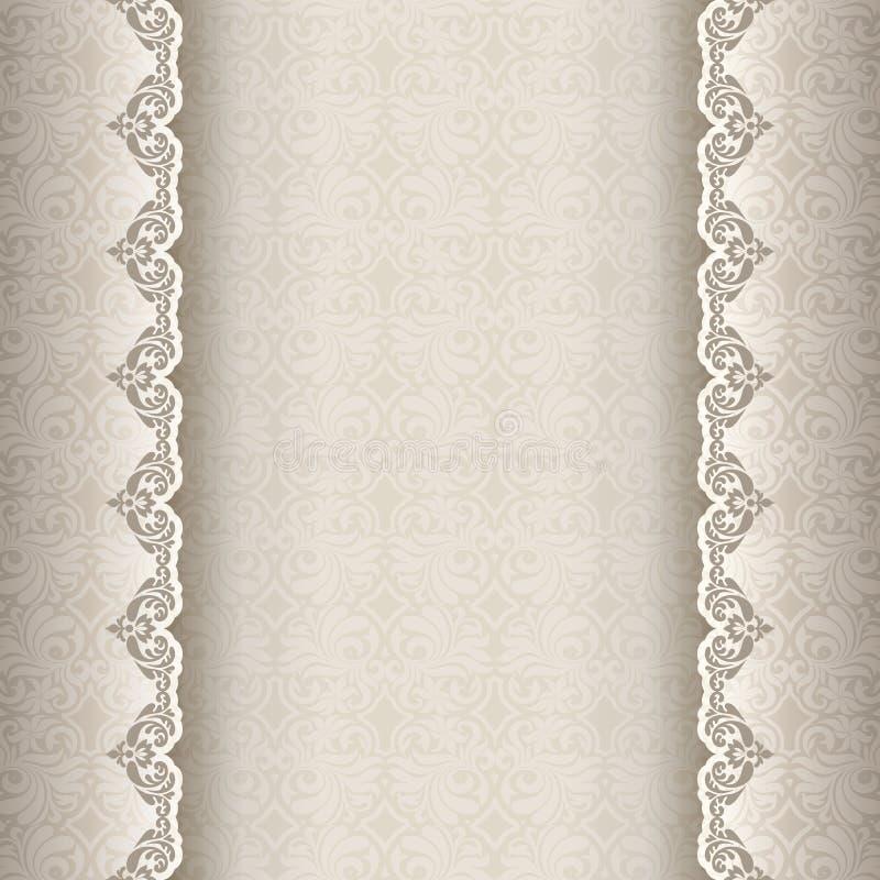 Weinlesehintergrund, antike Grußkarte, Einladung stock abbildung
