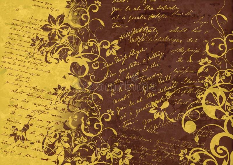 Weinlesehintergrund - Blumenabstraktion lizenzfreie abbildung