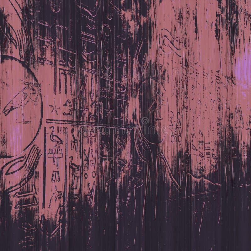 Weinlesehintergrund in der ägyptischen Art vektor abbildung