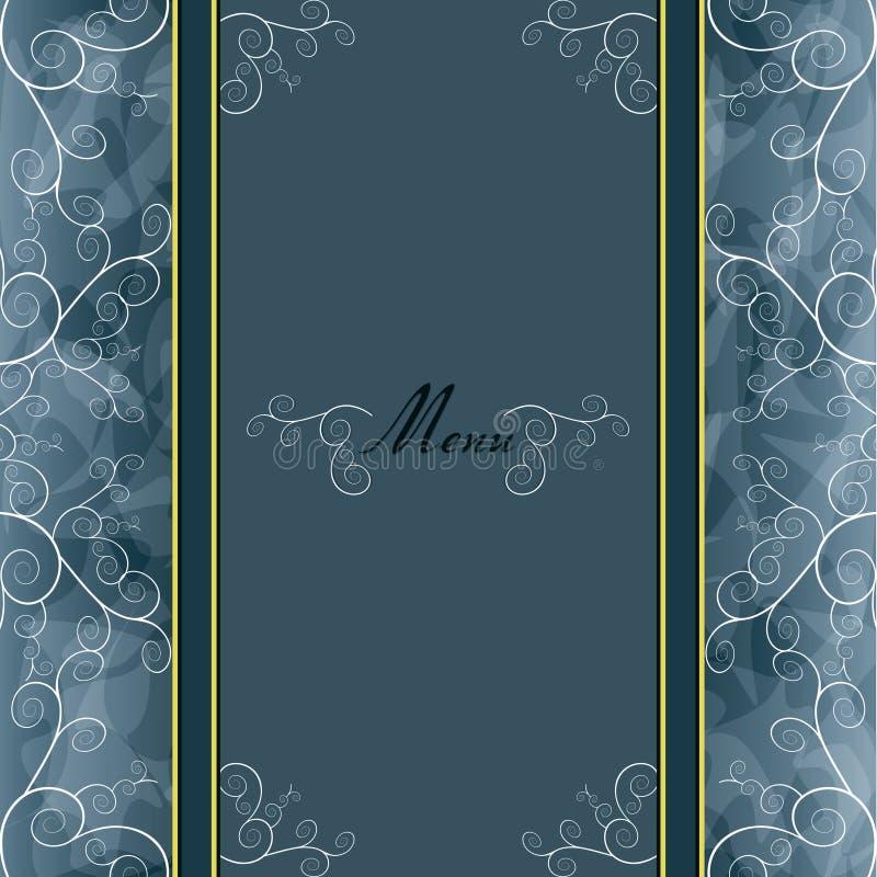 Weinlesehintergrund für Einladung, Menü, Abdeckung stock abbildung