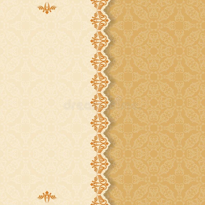 Weinlesehintergrund mit Teiler und schöner Arabeske vektor abbildung