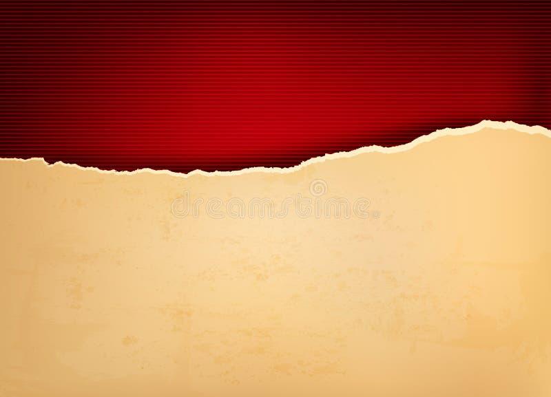 Weinlesehintergrund mit zerrissenem altem Papier stock abbildung