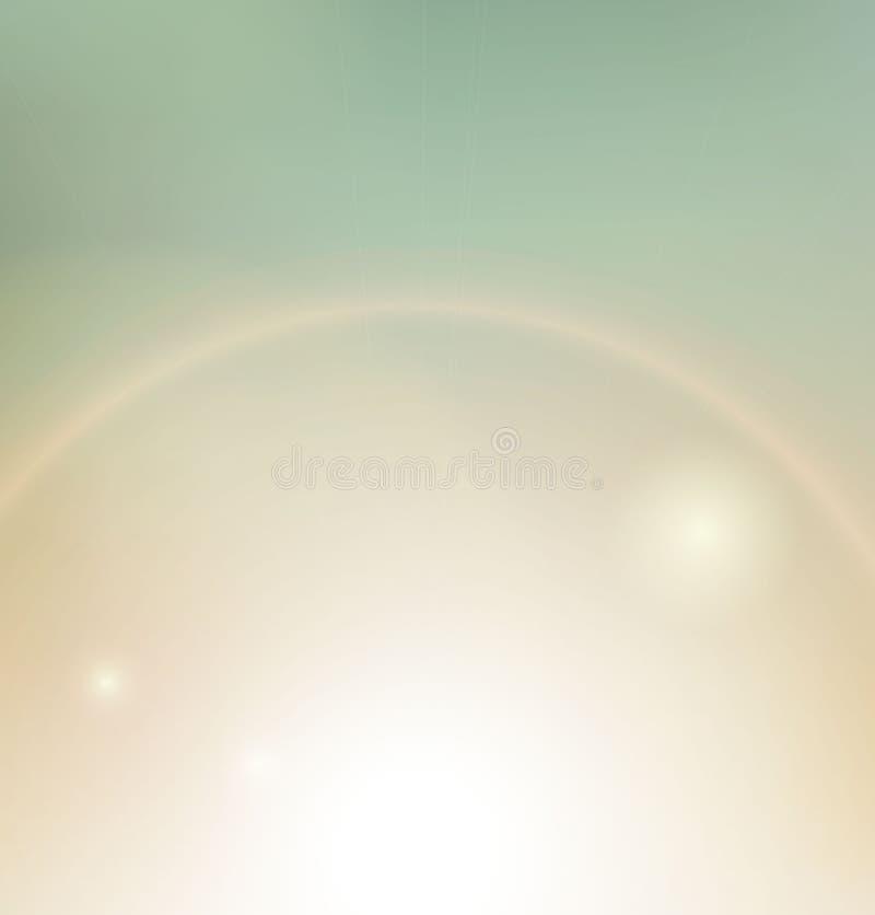 Weinlesehintergrund, Sonnenstrahl lizenzfreie abbildung