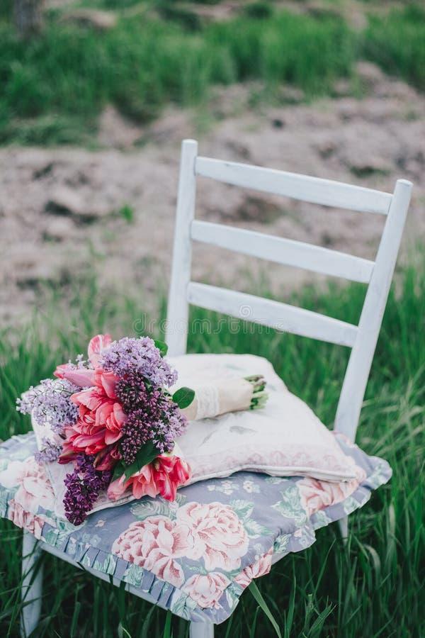 Weinlesehochzeit bouquete lizenzfreie stockfotos