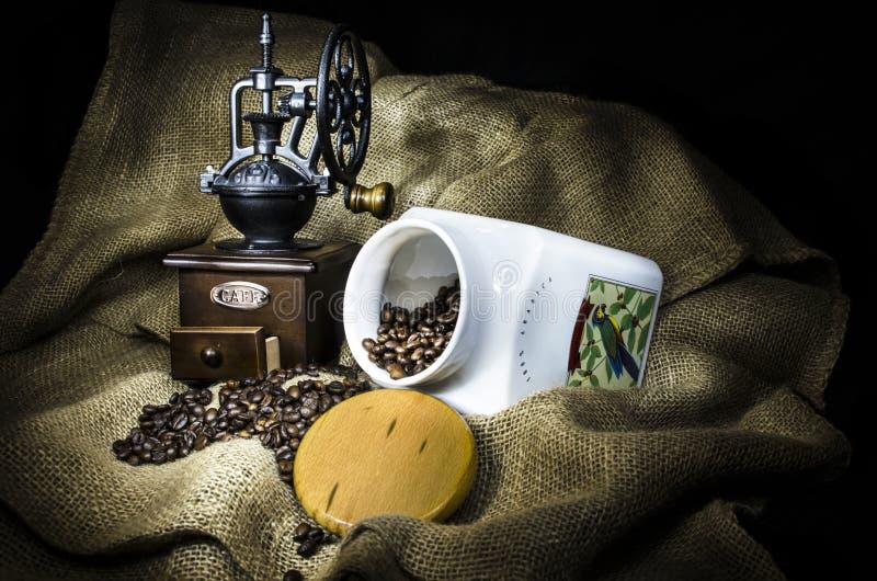 Weinlesekaffee stockbilder