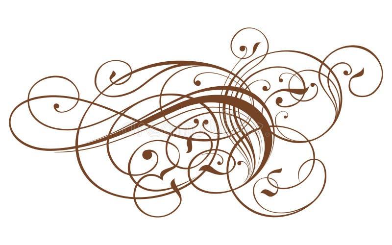 Weinlesekalligraphieverzierung lizenzfreie abbildung