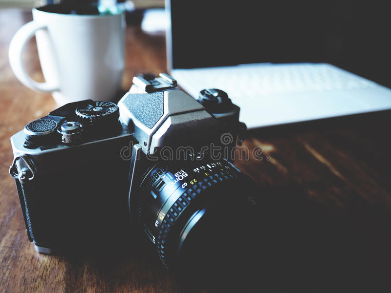 Weinlesekamera, Film Carema stockfoto