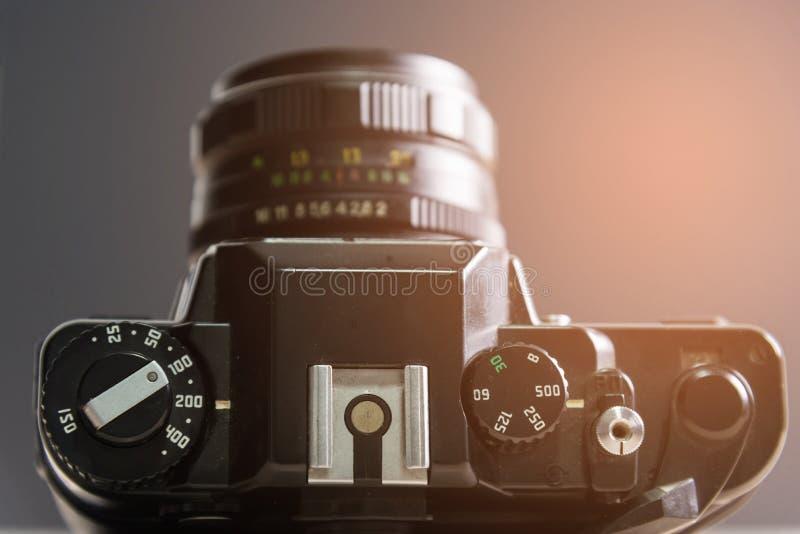 Weinlesekamera, klassische Kamera lizenzfreie stockbilder
