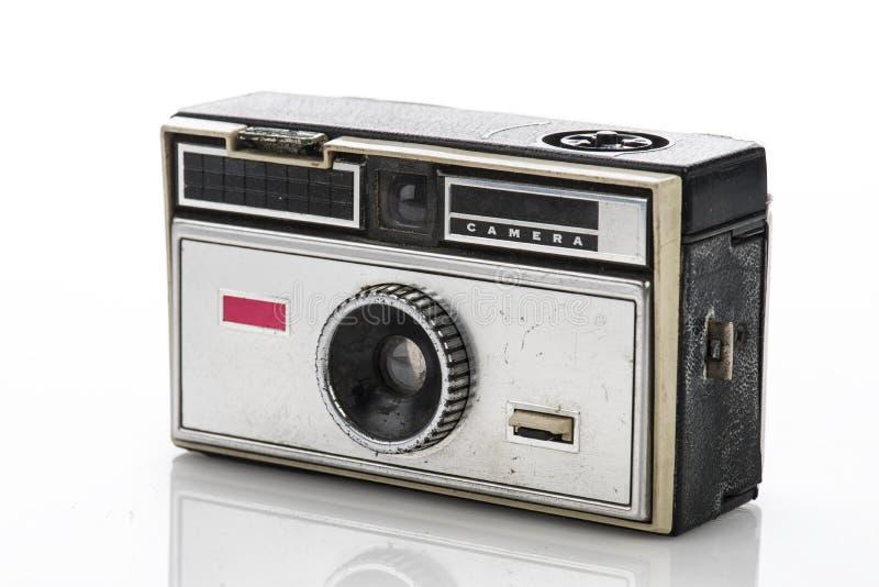 Weinlesekamera lokalisiert auf weißem Hintergrund, lizenzfreie stockfotos