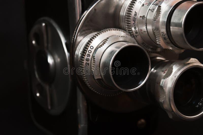 Weinlesekamera mit drei Linsen lizenzfreies stockfoto