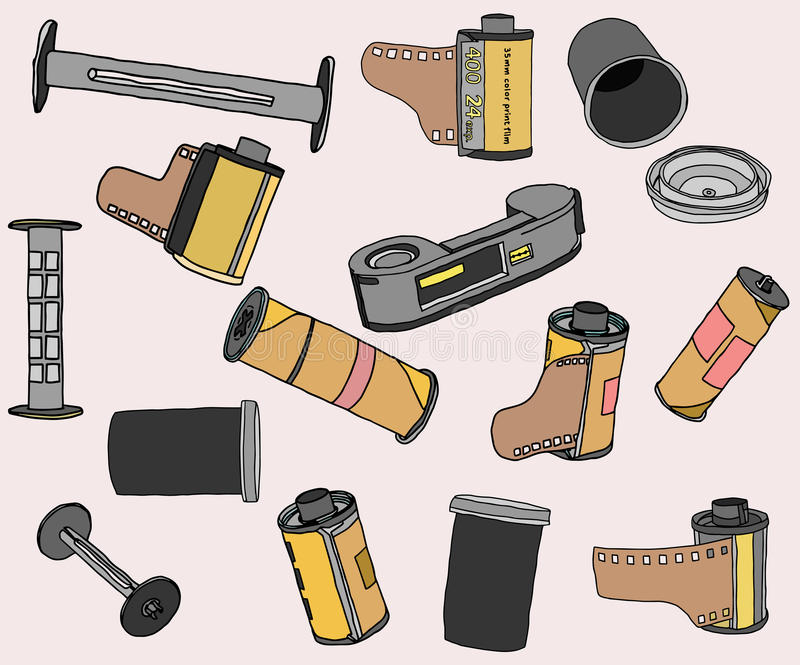 Weinlesekamerafilmkulisse stockfotos