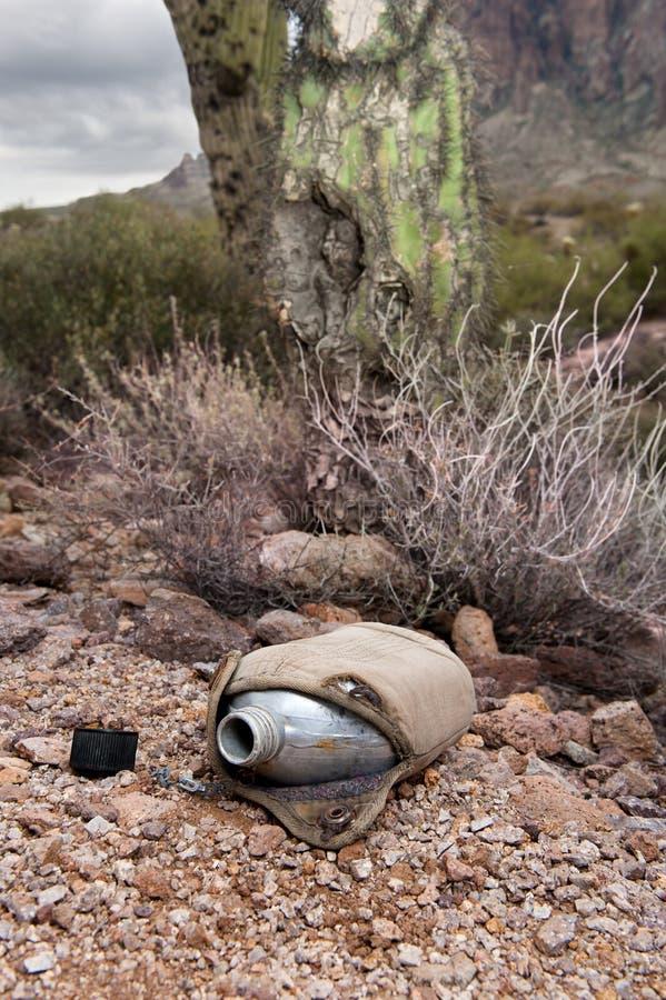Weinlesekantine in der Wüste stockbild