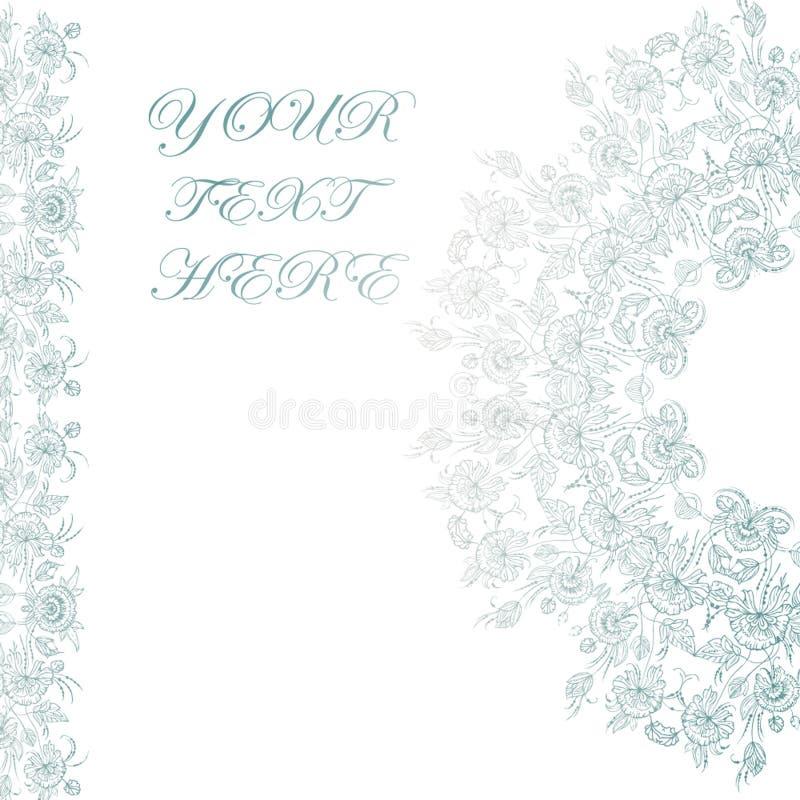 Weinlesekarte mit Blumen auf Hintergrund Bucheinband mit Blumenbeschaffenheit Auch im corel abgehobenen Betrag stockfotografie