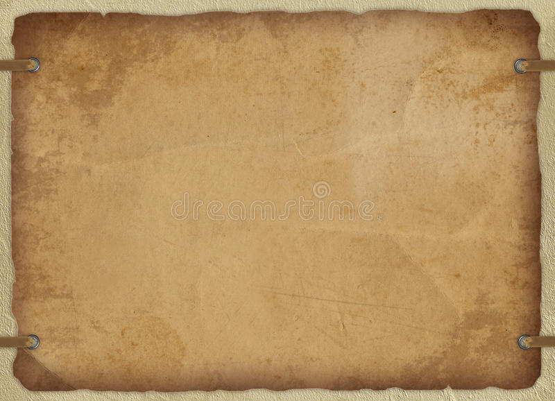 Weinlesekarte vom alten Papier vektor abbildung